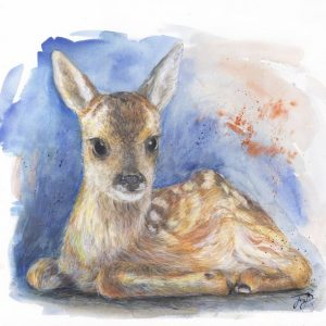 Fawn Painting New Dawn Baby Deer Print