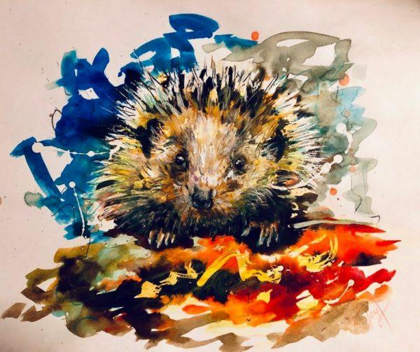 Hegehog Painting Giclee Print
