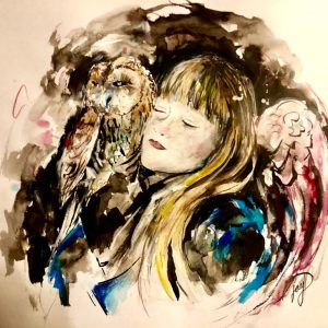 The Long Night Owl Watercolour The Print Mine